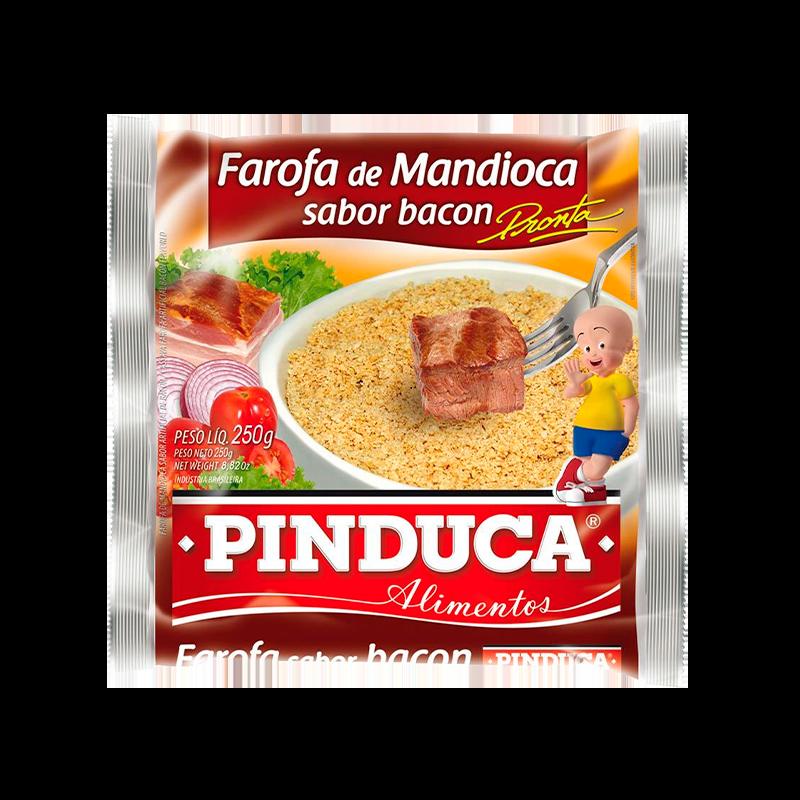 FAROFA DE MANDIOCA SABOR BACON PINDUCA 250G